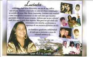 Um ano sem Lucinda