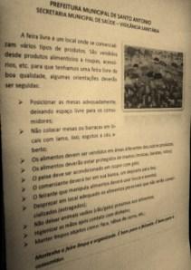 Vigilância Sanitária entregará panfletos na feira livre de Santo Antônio, RN