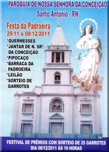 Programação da festa da Padroeira em Santo Antônio, RN