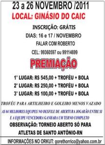 Santo Antônio, RN: 6° Torneio de Futsal Goreth Orrico