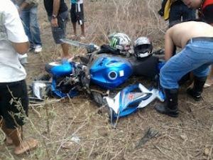 Acidente na BR-226 envolve motoqueiro que participou do Cactus Moto Fest em C. Novos