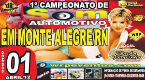 Monte Alegre, RN: I Campeonato de Som Automotivo (Racha de Som)