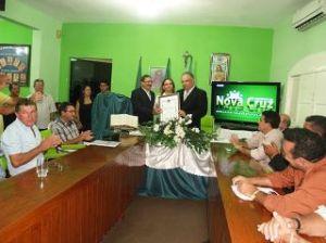 Leitura anual do Prefeito Flávio Azevedo na Câmara Municipal de Nova Cruz, RN