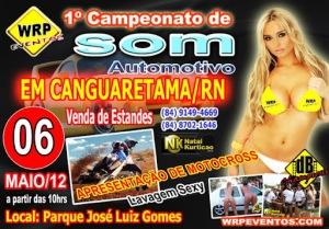 1° Campeonato de Som Automotivo em Canguaretama, dia 06 de maio