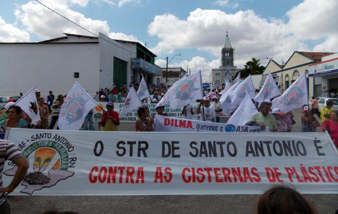 Santo Antônio, RN: agricultores de doze cidades do agreste realizaram protesto nesta quarta-feira
