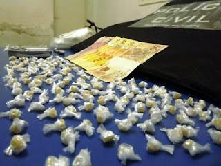 Nova Cruz/RN: Polícia apreende grande quantidade de crack