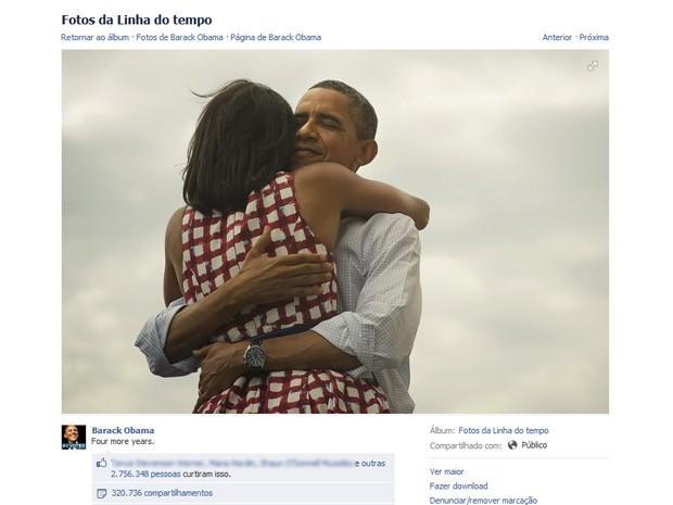 Foto de Obama é a mais 'curtida' de todos os tempos, diz Facebook