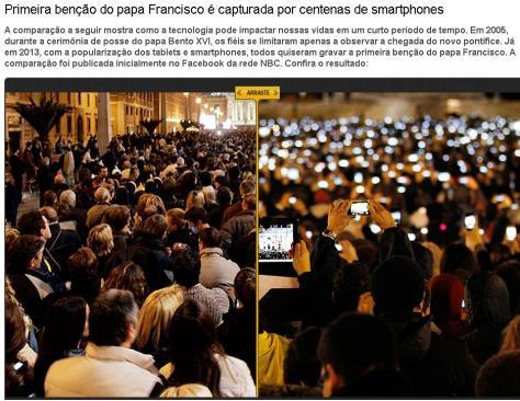 Fieis a espera do novo Papa